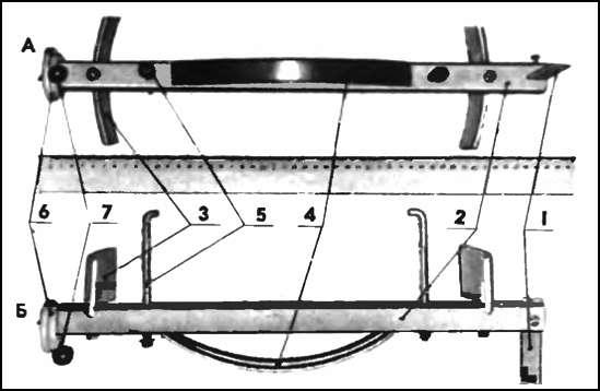 Линейка для регулировки схождения колес своими руками