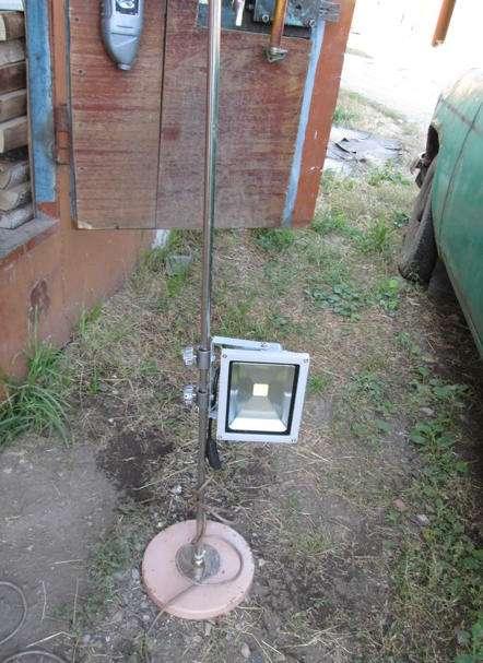 Светильник в гараж своими руками из подручных материалов
