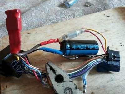 Чтобы магнитола не выкл. при запуске двигателя.