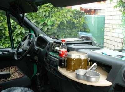 Столик в авто своими руками