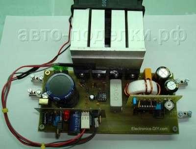 Импульсный инвертор 24V-12V 400W своими руками