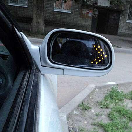 Как сделать в зеркале поворотники