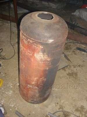 Буржуйка из газового баллона для гаража