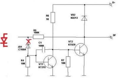 Повышаем напряжение зарядки генератора