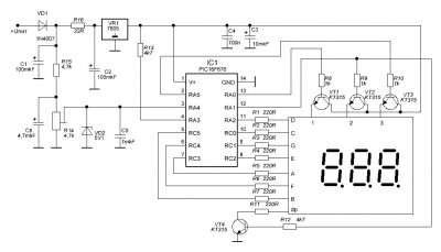 вольтметр для автомобиля на микроконтроллере