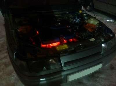 делаем подсветку двигателя