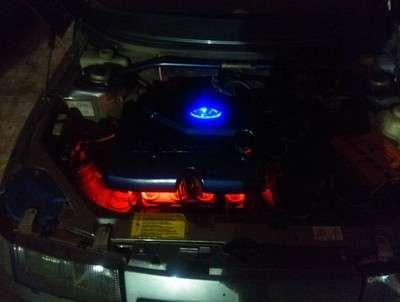 подсветка движка светодиодами