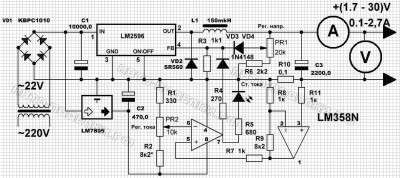 Импульсный стабилизатор напряжения, схема