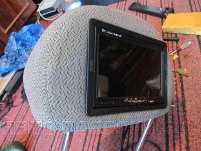 Как сделать телевизор в подголовник авто