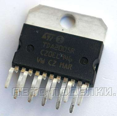 Усилитель низких частот на микросхеме TDA2005