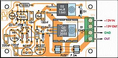 Регулятор скорости для 12В двигателя или диммер ламп