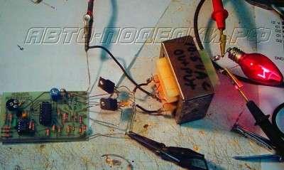 Инвертор 12В -110В/220В с мощностью 500Вт на МОП - транзисторах