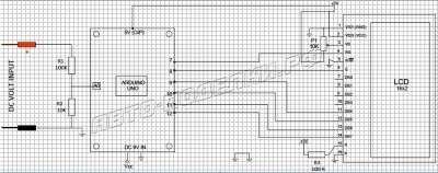 Цифровой вольтметр 0-30 Вольт на базе Ардуино схема