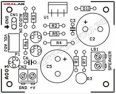 Аудио усилитель на 12Вт класса АВ
