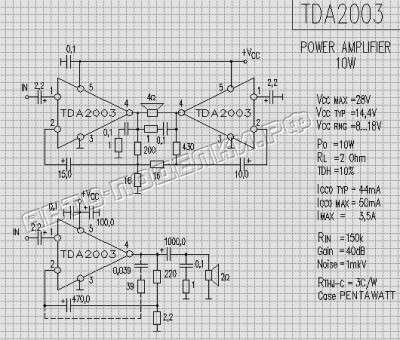 Простой усилитель для сабвуфера на TDA2003