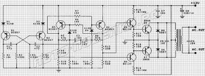 Транзисторный инвертор 12В/220В схема