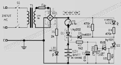 Cхема зарядного устройства для автомобильного аккумулятора