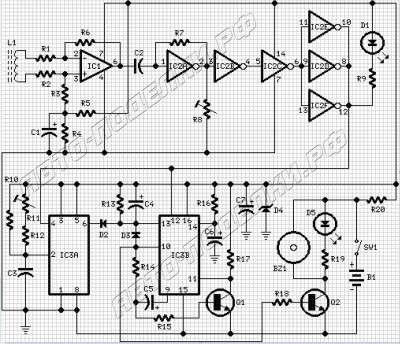 Сигнализатор предельной скорости автомобиля, схема