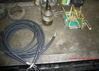 смазываем припоем провода