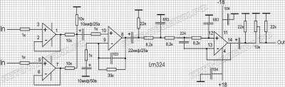 Фильтр НЧ для сабвуфера, схема