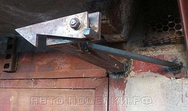 Стопор гаражных ворот своими руками