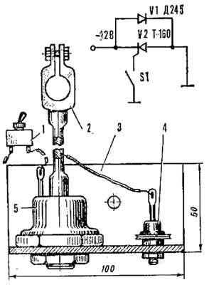 Электрический выключатель массы, схема