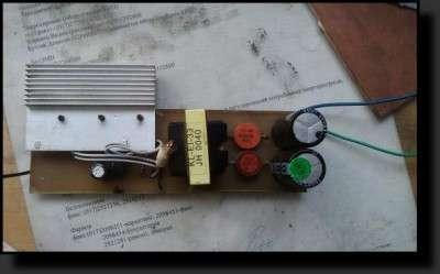 Инвертор 12-220 для авто, схема.
