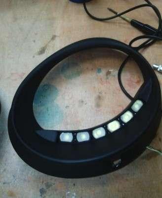 LED в фары Матиза