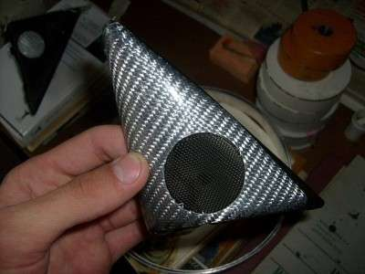 Как обшить треугольники зеркал автомобиля карбоном