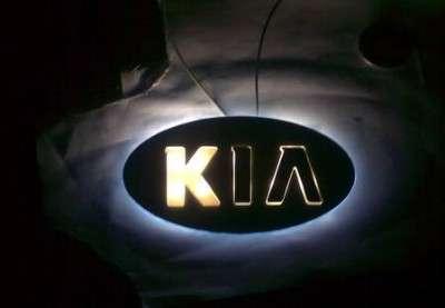 Установка LED подсветки на значок KIA