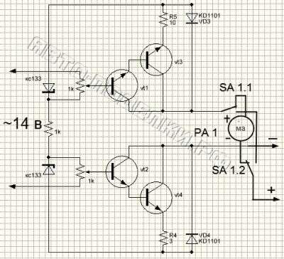 Схема зарядки аккумулятора