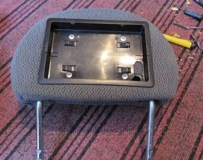 телевизор в подголовник авто