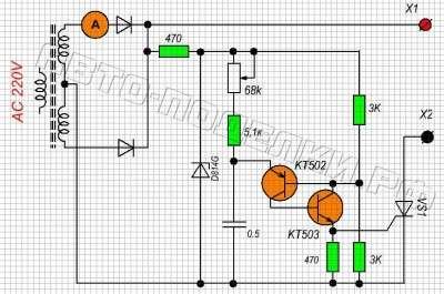 Зарядное устройство для акб схема