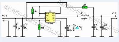 Адаптер для зарядки телефона схема