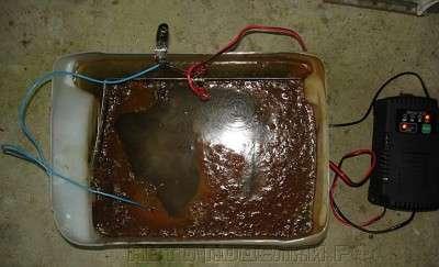 Избавляемся от ржавчины, электро-химический способ
