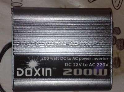 DC–AC инвертор 12V/220V мощностью 200W (обзор)