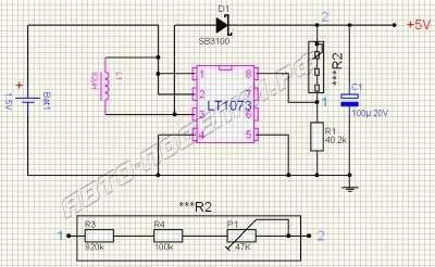 Преобразователь напряжения 1.5В в 5В или 12В на LT1073