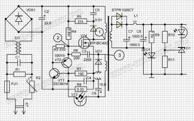 Блок питания для зарядного устройства схема