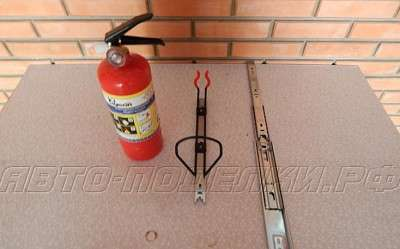 Оригинальное размещение огнетушителя