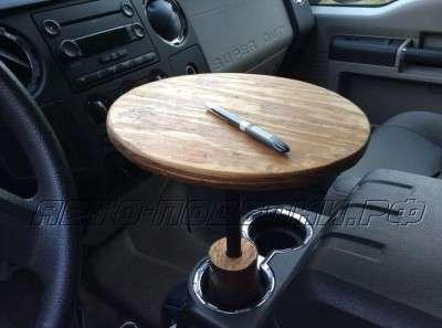 Портативный столик в автомобиле своими руками