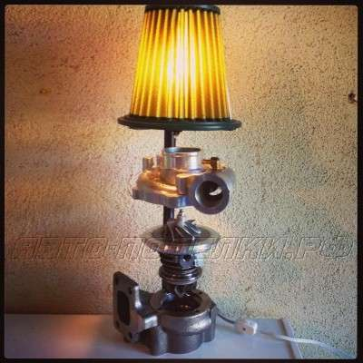 Лампа из авто запчастей своими руками