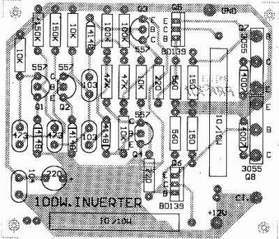Транзисторный инвертор 12В/220В мощностью 100Вт