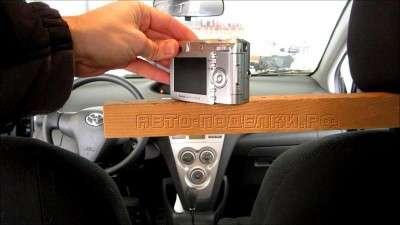 Простой монтаж видеокамеры в автомобиле