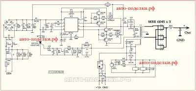 Схема Power Supply IR2153